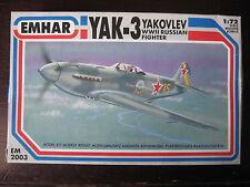 MAQUETTE 1/72 EMHAR YAK 3 NORMANDIE NIEMEN URSS RED ARMY WWII MILITAIRE