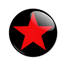 Badge ETOILE ROUGE Red Star punk rock goth metal mods hipster button pins Ø25mm.