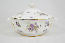 Hammersley Victorian Violets Covered Vegetable Bowl
