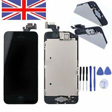 LCD Digitizer Assembly Screen Replacement+Camera+Home Button For Black iPhone 5