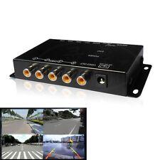 Control de infrarrojos 4 cámaras de vídeo cámaras de coche de control interruptor de imagen Combiner Caja para Canadá