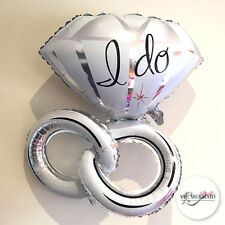 Double Ring I Do Foil Helium Balloons Wedding Engagement Table Decorations Large