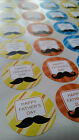Fathers Day Stickers Party Bags Cakes Baking Sweet Cones Matt Paper Labels