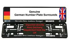MERCEDES BRABUS Number Plate Surrounds CLK CL55 SL55