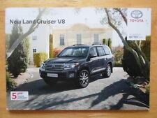 TOYOTA Land Cruiser V8 2012 UK Mkt prestige sales brochure