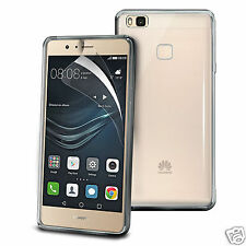 Tough Thin Clear TPU Gel Case Cover & Screen Guard for Huawei P9 Lite