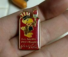 1984 LA Olympic Sam Coca Cola Torch Logo Pin 1984 Los Angeles Vintage RARE