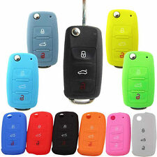 Silicone Key Bag Cover Portect Case Car Accessories For Volkswagen Skoda Series