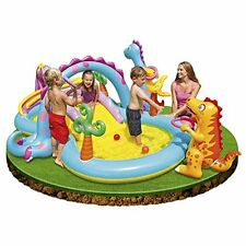 Intex Dinosaur Water Play Center, Paddling Pool with Moveable Arch Water Spray.