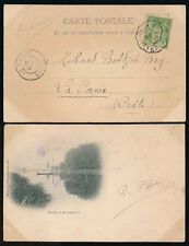 FRANCE to CRETE 1900 PPC...CHALINDREY NANCY TPO POSTMARK