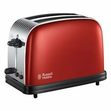 RUSSELL HOBBS 23330 COLOURS PLUS 2 SLICE TOASTER, RED  ***BRAND NEW***