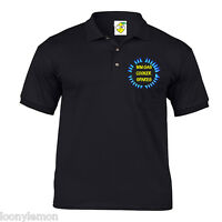 MENS PERSONALISED WORKWEAR POLO SHIRT FRONT/BACK PRINT , CUSTOM UNIFORM