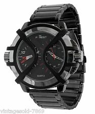 Fastrack Design Metal Strap Men's Watch FOREST BRAND Double Time Black Dial