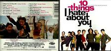 10 Things I Hate About You soundtrack Cd- Letters To Cleo,Madness,Pantera, exc