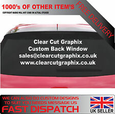 Personalised business rear window Bespoke Car Van Vinyl Signs Stickers decals