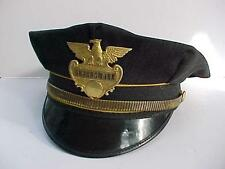 1930's - 1940's GUARDSMARK  Security Guard Police Hat w/ Badge Dark Gray 7 1/4