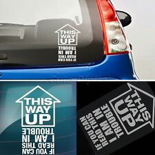 THIS WAY UP Car Window Bumper JDM Sticker Funny Vinyl Decal Euro Drift Racing