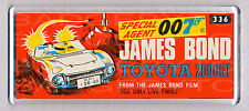 JAMES BOND TOYOTA 2000GT toy box art WIDE FRIDGE MAGNET - CLASSIC TOY MEMORIES!
