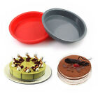 Round Food-Grade Silicone Birthday Party Cake Bread Mold Baking Pan 7.3*1 inch