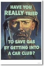 Have You Really Tried To Save Gas By Getting Into A Car Club? - NEW Print POSTER