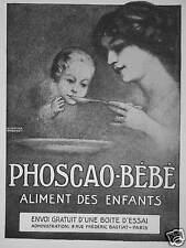 PUBLICITÉ PHOSCAO BÉBÉ ALIMENT DES ENFANTS ENVOI GRATUIT D'UNE BOITE D'ESSAI