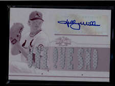 SHELBY MILLER 2014 TRIPLE THREADS WHITE WHALE PLATE AUTO 9-PC AUTO #1/1 AB8116