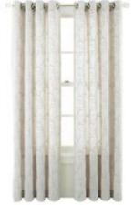 *Royal Velvet Whittier Blackout Grommet Top Curtain Panel 50Wx63L Ivory