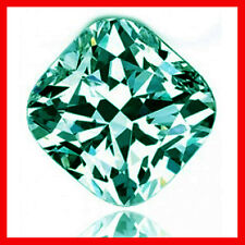 2.60 ct VVS1./BLUE GREEN LOOSE CUSHION REAL MOISSANITE  FOR RING