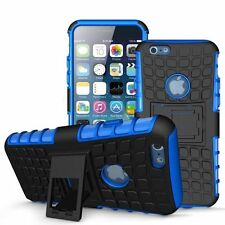 HEAVY DUTY TOUGH SHOCKPROOF W/ STAND HARD CASE COVER FOR Apple Iphone 5C Blue