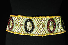 ADVENTUROUS BEADED AZTEC FASHION BELT STUNNING EMBELLISHMENTS BRAND NEW (BL1)