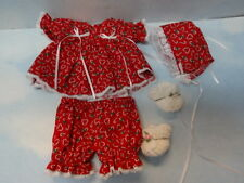 1967 Ideal Newborn Thumbelina Adorable Christmas Outfit w/Booties