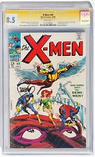 X-MEN 49 CGC 8.5 COMIC BOOK 1968 JIM STERANKO SIGNED WHITE PAGES 1st Polaris