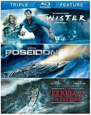 TWISTER / POSEIDON / THE PERFECT STORM   -  Blu Ray - Sealed Region free