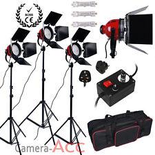 Actualización 3x800w Cabeza Roja continuo Studio Video luz iluminación Kit atenuadores Bolsa