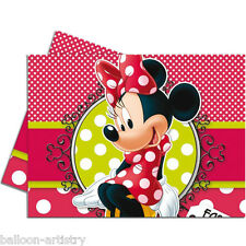 1.2mx1.8m Disney Minnie Mouse Classic Red Polka Dots Party Plastic Table Cover