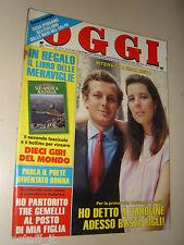 OGGI=1987/41=STEFANO CASIRAGHI=GINO PALUMBO=ALESSANDRA MUSSOLINI=FIASCHERINO=