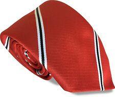 Football Manager Club Tie Red Devil with Black and White Stripes Premier Tie