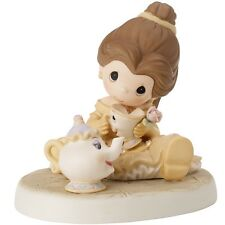 $ New PRECIOUS MOMENTS DISNEY Figurine BELLE MRS POTT CHIP Teapot Cup Statue