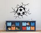 Wandaufkleber: Fußball in der Wand Kinderzimmer Junge Sport Fussball WandTattoo