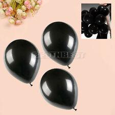 100 PCS Ballons en Latex Noir Romantique pour Fête Mariage Anniversaire Cadeau