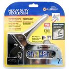 HEAVY DUTY TACKER STAPLE NAIL GUN STAPLER UPHOLSTERY WOOD WITH 400 STAPLES NEW