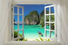 SCENIC POSTER window onto THAILAND 24X36 island turquoise water LUSH EXOTIC