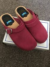 Torpatoffeln Classic Orthopaedic Clogs 39 Made In Sweden Leather Pink New In Box