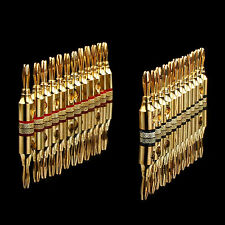24pcs 4mm Speaker Wire Banana Plug Audio Jack Cable Connector Adapter Metal Gold
