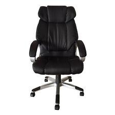 Office Chair High Back Ergonomic Desk Task Black Leather Executive Computer Seat