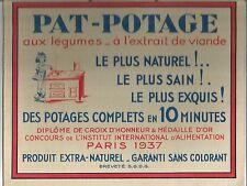 PAT-POTAGE  aux légumes et viande cuisine soupe  carton pub ancien / PUB40