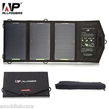 ALLPOWERS 15W Monocrystalline Silicon Solar Panel waterproof Folding Charger