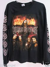 NEW - CRADLE OF FILTH TONIGHT IN FLAMES CONCERT MUSIC T-SHIRT LONG SLEEVE MEDIUM
