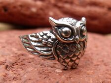 OWL 925 SILVER RING SIZE O 1/2 * U.S 7.5 SILVERANDSOUL HANDCRAFTED JEWELLERY
