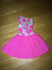BARBIE DOLL CLOTHING ACCESSORY PINK FLOWERY BALLERINA TYPE SKIRT TOP DRESS SWEET